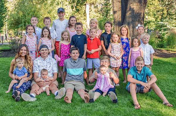 Fourth Papé generation: Shirley's 24 of 25 great-grandchildren